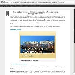 Hammarby Sjöstad, un éco-quartier reflet des enjeux de développement durable.
