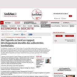De l'Agenda 21 local au rapport développement durable des collectivités territoriales
