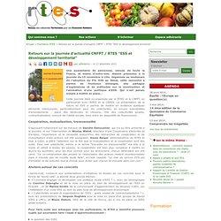 """Retours sur la journée d'actualité CNFPT / RTES """"ESS et développement territorial"""""""