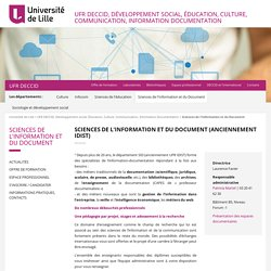 Sciences de l'Information et du Document - UFR DECCID, Développement social, Éducation, Culture, Communication, Information Documentation