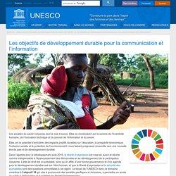 Les objectifs de développement durable pour la communication et l'information