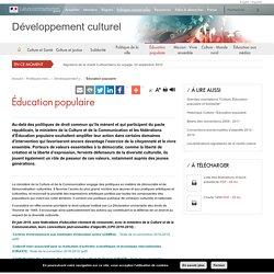 Éducation populaire / Développement culturel