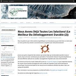Nous avons déjà toutes les solutions! (le meilleur du développement durable (2))