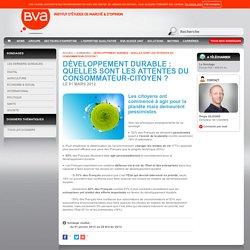 Développement Durable : quelles sont les attentes du consommateur-citoyen ?
