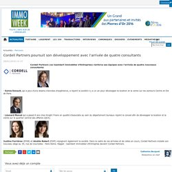 Cordell Partners poursuit son développement avec l'arrivée de quatre consultants