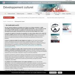 Développement culturel