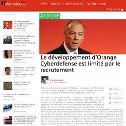 Le développement d'Orange Cyberdefense est limité par le recrutement