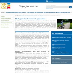 Développement du tourisme et du cyclotourisme