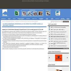 La déclaration universelle du droit au sport dans la Nature (CNOSF)