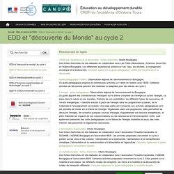 """Éducation au développement durable-EDD et """"découverte du Monde"""" au cycle 2"""