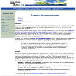 Développement durable : définition et objectifs