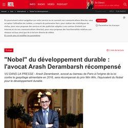 """""""Nobel"""" du développement durable : l'avocat Arash Derambarsh récompensé"""