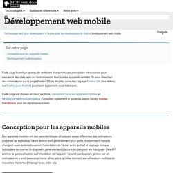 Développement web mobile - Guides pour développeurs Web