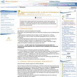 """""""Ressources numériques au CDI : un défi pour le développement des usages""""- Les Enseignants Documentalistes de l'Académie de Poitiers"""