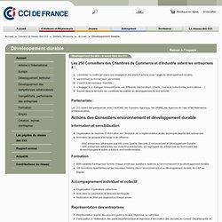 Developpement durable - Portail CCI