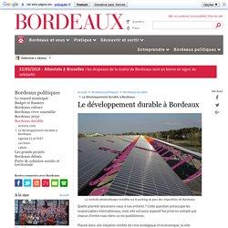 Le développement durable à Bordeaux - Bordeaux durable