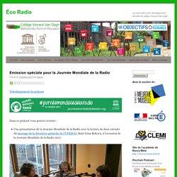 La web-radio 100% développement durable du collège Vincent Van Gogh