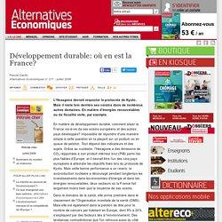 Développement durable: où en est la France?