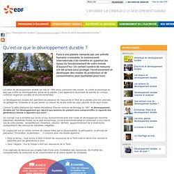 Qu'est-ce que le développement durable ? - EDF Site jeunes