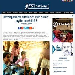 Développement durable en Inde rurale : mythe ou réalité ?