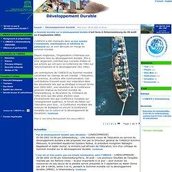 Développement durable: UNESCO