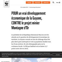 POUR un vrai développement économique de la Guyane, CONTRE le projet minier Montagne d'Or