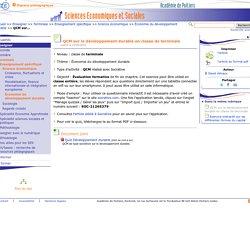 QCM sur le développement durable en classe de terminale- Sciences Economiques et Sociales