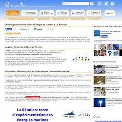 Développement de la filière «Énergie de la mer» à la Réunion - Ecosources