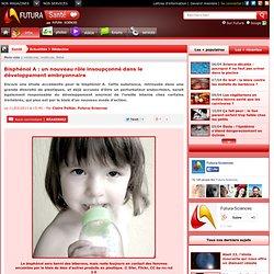 Bisphénol A : un nouveau rôle insoupçonné dans le développement embryonnaire