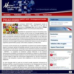 Retour sur la commission AMGVF-ACUF « Développement durable et Transition énergétique »