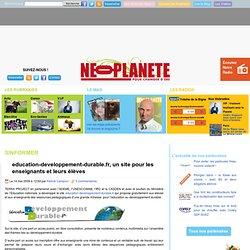 education-developpement-durable.fr, un site pour les enseignants et leurs élèves