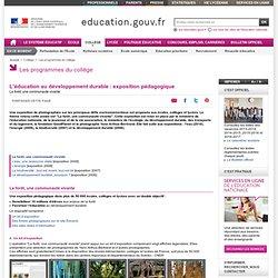 Éducation au développement durable : exposition pédagogique