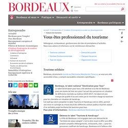 Acteurs du tourisme - Création d'entreprise & soutien au développement - Entreprendre - Bordeaux