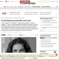 Le développement durable, mot à mot