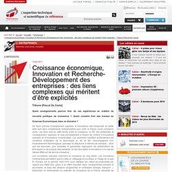 Dissertation innovation et croissance conomique