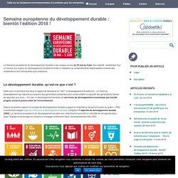 Semaine européenne du développement durable : bientôt l'édition 2018 ! - Entreprise Environnement