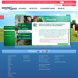 Développement environnemental / Notre démarche / On s'engage / Nos éleveurs et Vous / Nos engagements / Accueil - Danone et Vous