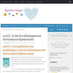 Les 6 C : 6 clés d'un développement harmonieux et épanouissant