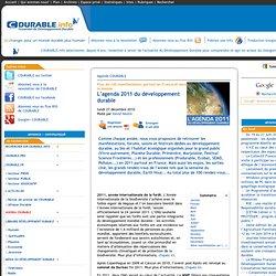 L'agenda 2011 du développement durable