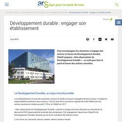 Développement durable : engager son établissement