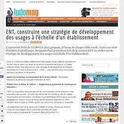 ENT, construire une stratégie de développement des usages à l'échelle d'un établissement