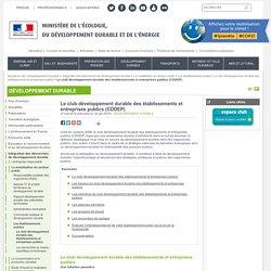 Le club développement durable des établissements et entreprises publics (CDDEP)