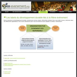 Les labels du développement durable : Eco-evenement