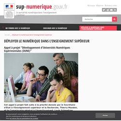 Appel à projet Développement d'Universités Numériques Expérimentales (DUNE)