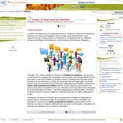 Viaéduc, le réseau social de l'éducation- Centre Académique Recherche- Développement, Innovation et Expérimentation