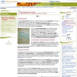 Des ateliers pour motiver- Centre Académique Recherche- Développement, Innovation et Expérimentation