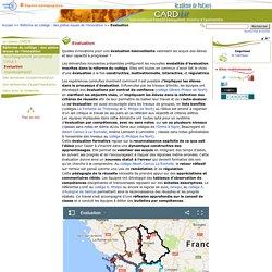 Evaluation - Centre Académique Recherche- Développement, Innovation et Expérimentation