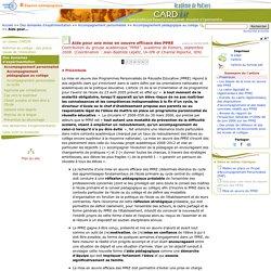 Aide pour une mise en oeuvre efficace des PPRE- Centre Académique Recherche- Développement, Innovation et Expérimentation