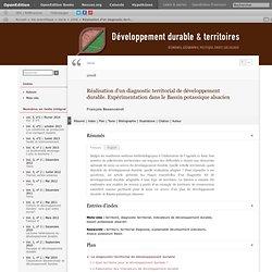 Réalisation d'un diagnostic territorial de développement durable. Expérimentation dans le Bassin potassique alsacien