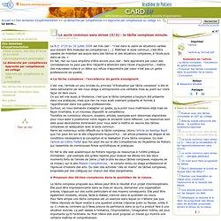 Le socle commun sans stress (3/3): la tâche complexe minute.- Centre Académique Recherche- Développement, Innovation et Expérimentation